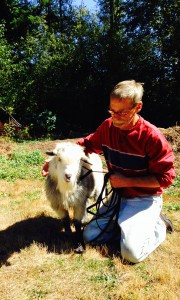 Gary and garage sale goat Earl