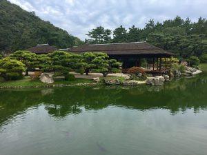 Tea house at Ritsurin Garden