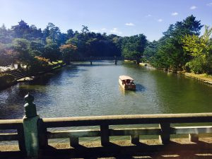 Moat around Matsue Castle