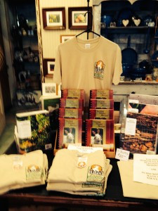 OGF T-shirts and cookbooks