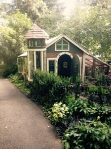 Chicken coop at Kathy Fries garden