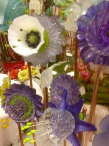 vintage glass flower