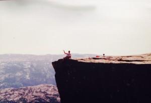 Me on top of Prekistolen in Norway