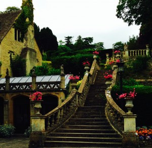 Staircase at Castle Combe Garden and Hotel