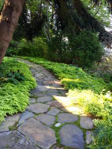 new stone walk