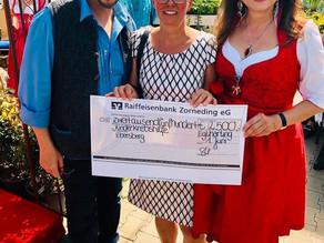 Charity Veranstaltung im Gartencenter Urgibl erzielt 2.500 € für Kinderkrebshilfe Ebersberg e.V.