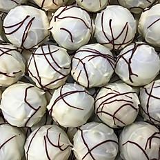 Lakrids/karamel trøffel - hvid chokolade (pr. 100 gr.)