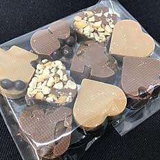 Hjerter i lys chokolade (9 stk. i pose)