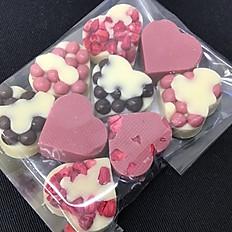 Hjerter i hvid chokolade (9 stk. i pose)