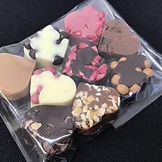 Hjerter i blandet chokolade (9 stk. i pose)