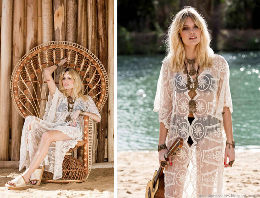 de77d0c9850 Transparencias y encaje moda verano 2016 Kimonos y vestidos Bendito Pie