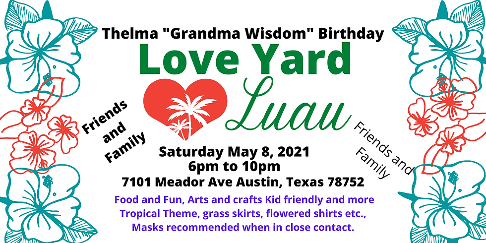 Grandma Wisdom  80th Birthday Luau