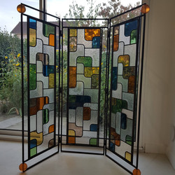 Création vitrail paravent