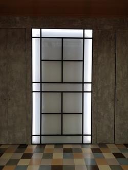 Claustra lumineuse vitrail
