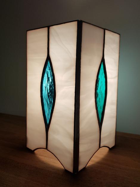 Lampe vitrail tiffany flameches