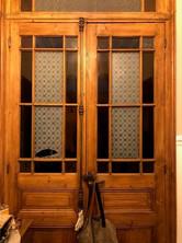 Porte avec verres peints et gravés