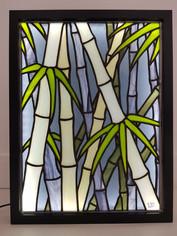 Vitrail Tiffany Les bambous bleus