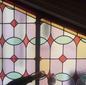 Restauration avec Mise au verre