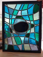 Tableau en vitrail trou noir
