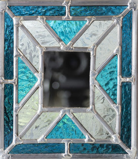 Petit miroir en vitrail
