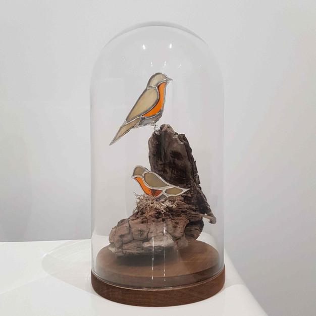 Cabinet de curiosités Arbre-mère aux 2 oiseaux