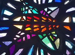Vitrail poissons en dalle de verre