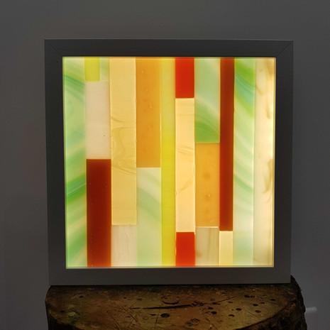 Tableau lumineux en vitrail 6