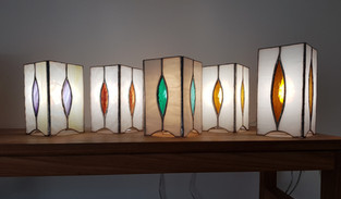 Collection de lampes vitrail tiffany