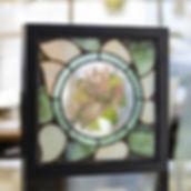 Chèvrefeuille en grisaille et émail, vitrail Tiffany