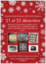 Flyer Vente de Noël d'artisans d'art
