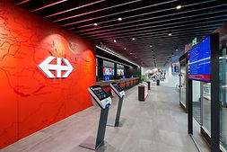 Codes Lite, Beratung, Lichtplanung, Engineering, Mawa-Design, Bubble Lamps, SBB Bahnreisezentrum