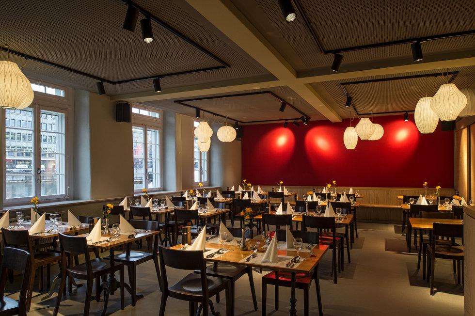 CodesLite, Beleuchtungen, Restaurant Schipfe 16, Zürich, Beleuchtung, Innenleuchten