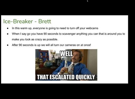 Virtual Ice-Breaker - MAKE SHIFT CRAZY!