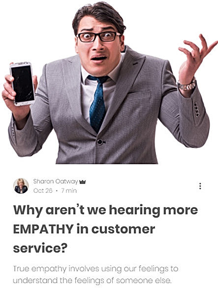 Blog -Why aren't we hearing more empathy in customer service?