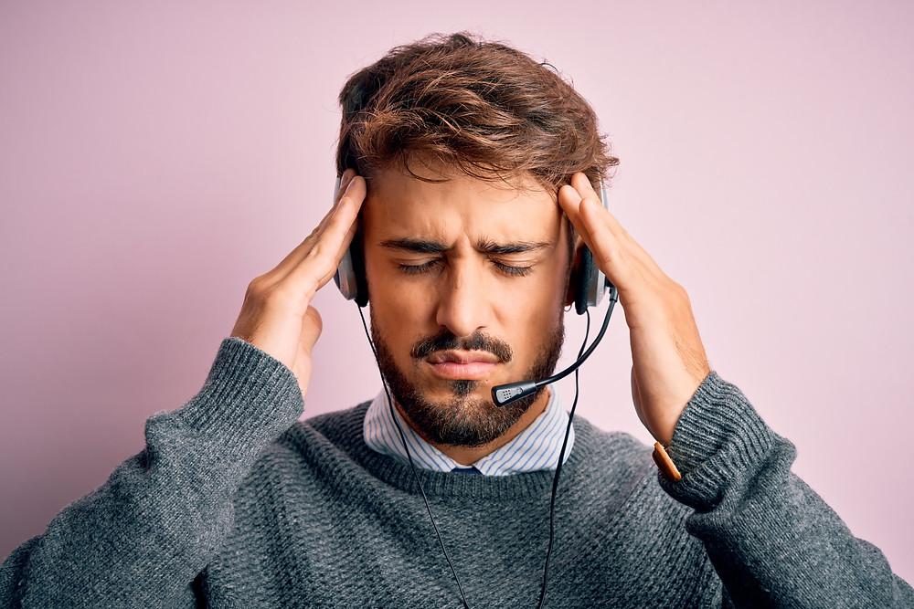 Customer service rep under stress