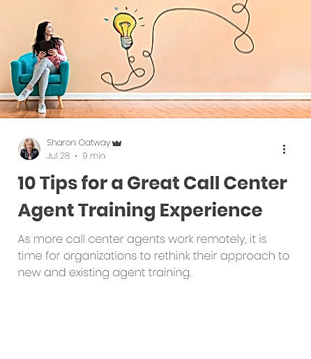 10 Tips for a great call center agent training experience