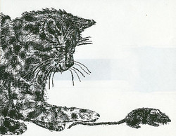 Cat and Mouse-computer art