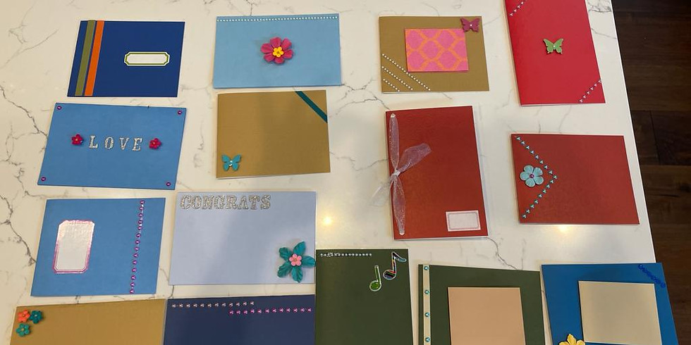 Handmade greeting cards fundraiser