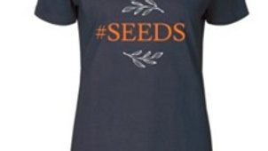 Seeds T-shirt (navy color shown)