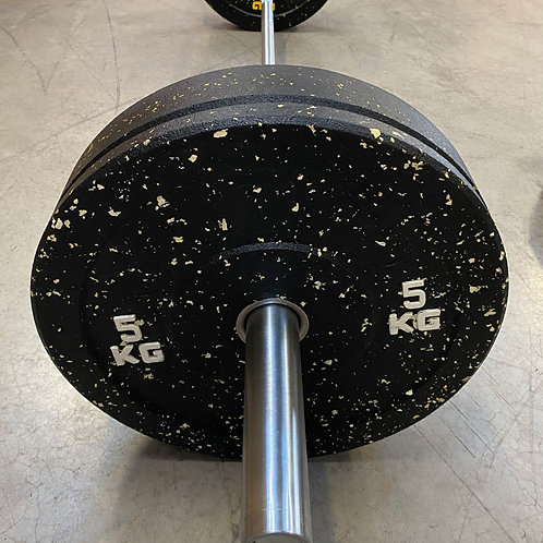 55kg set. 15kg barbell and 40kg high temp plates