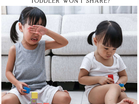 What to do when your toddlers don't want to share?