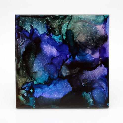 Midnight Dream I Ceramic Trivet