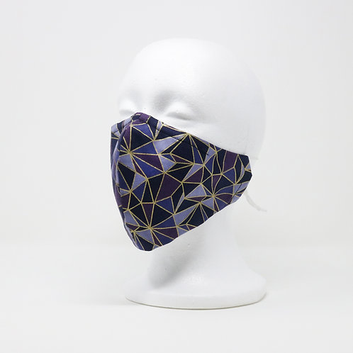 Mauve Geometric Mask