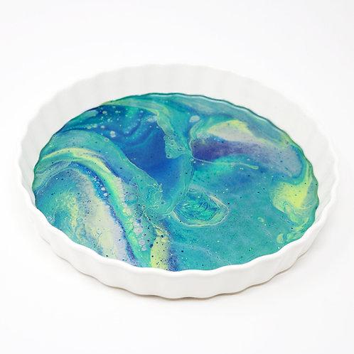 Proud Peacock Ceramic Serving Platter