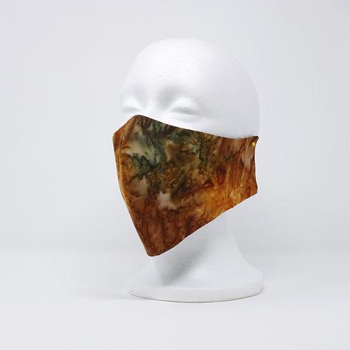 Orange Rust Batik Mask