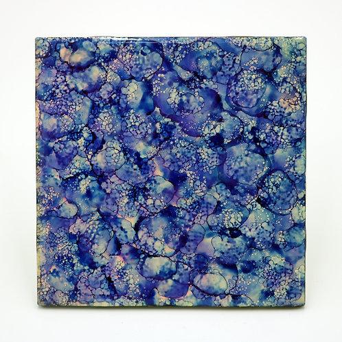 Blue Icicle Ceramic Trivet