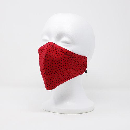 Retro Red Polka Dot Mask