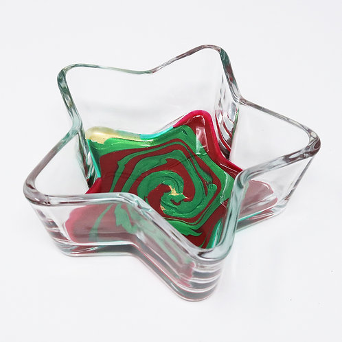 Festive Fantasy Glass Star