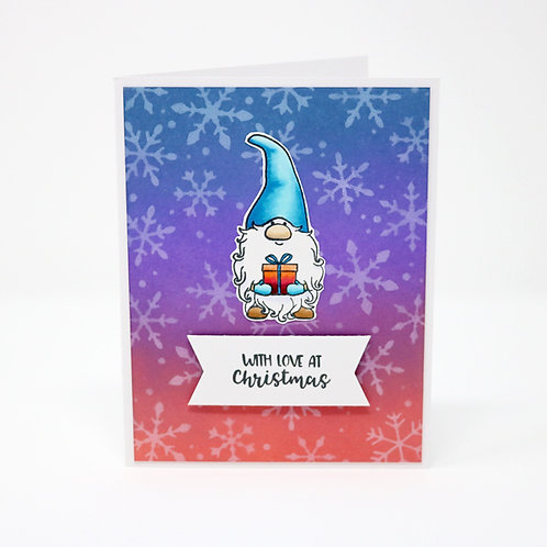 Christmas Gnome Greeting Card