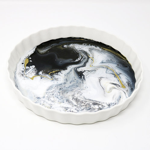 Snow Storm II Ceramic Serving Platter